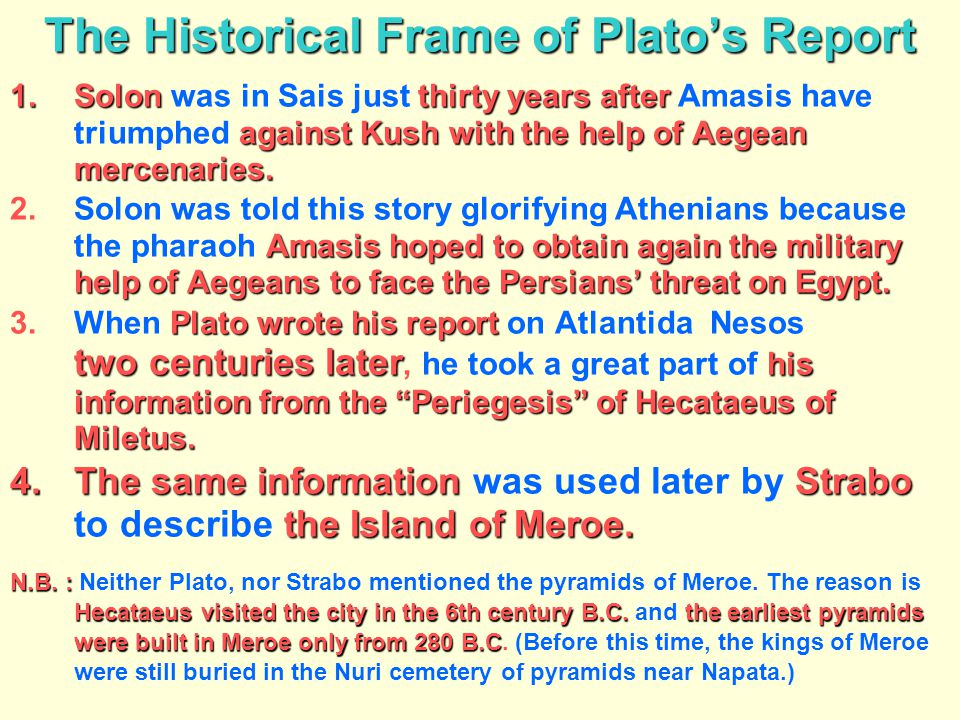 The Historical Frame of Plato's Report