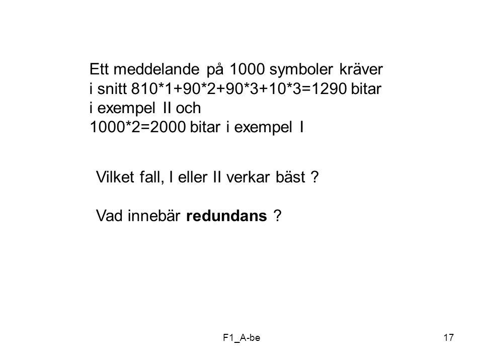 Ett meddelande på 1000 symboler kräver