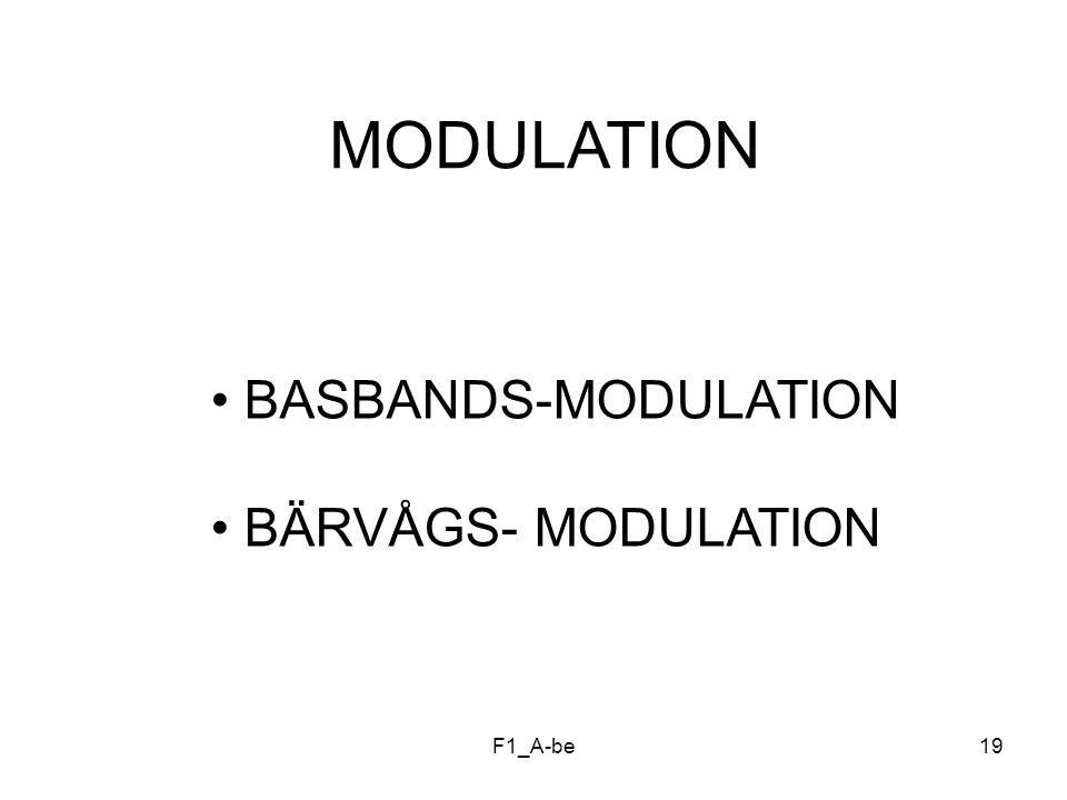 MODULATION BASBANDS-MODULATION BÄRVÅGS- MODULATION F1_A-be
