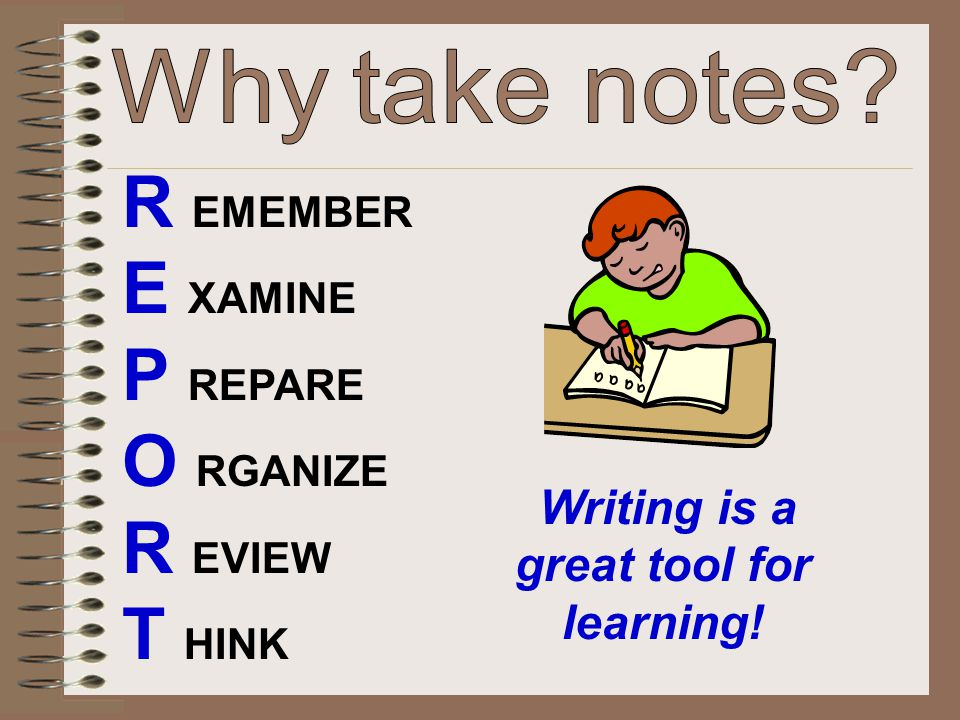 Writing is a great tool for learning!