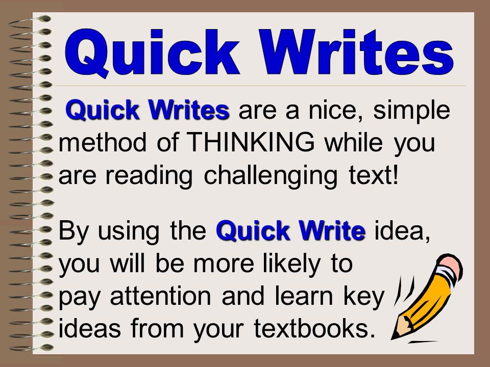 method of THINKING while you are reading challenging text!