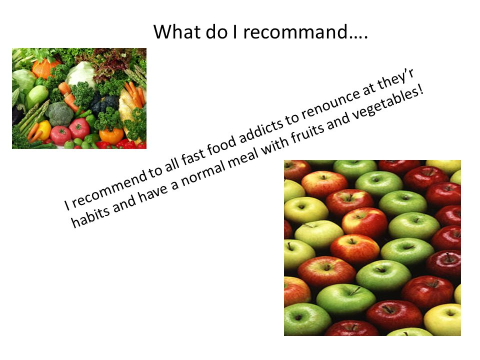 What do I recommand….
