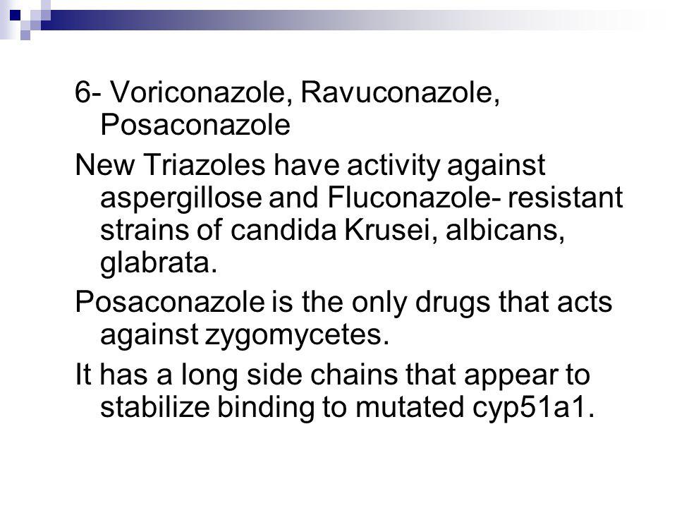 6- Voriconazole, Ravuconazole, Posaconazole