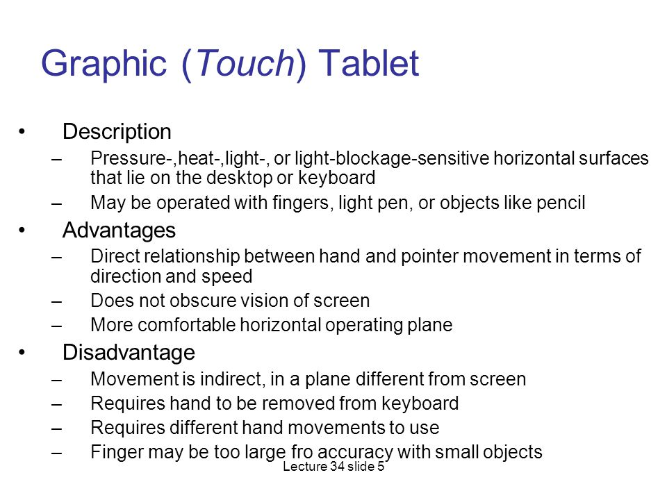 Graphic (Touch) Tablet
