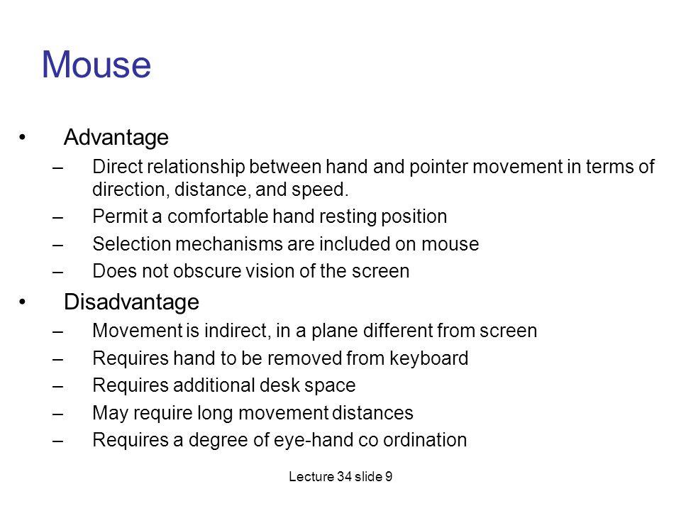 Mouse Advantage Disadvantage