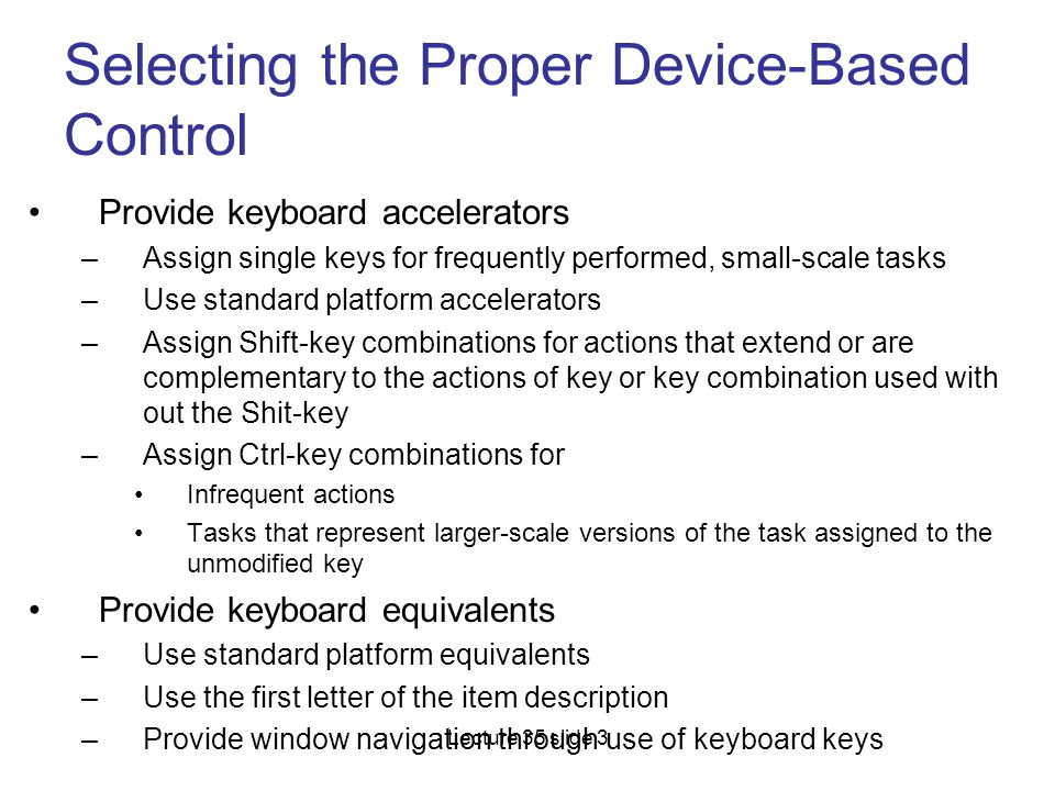 Selecting the Proper Device-Based Control