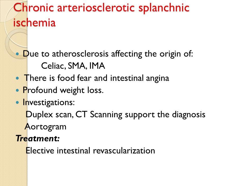 Chronic arteriosclerotic splanchnic ischemia