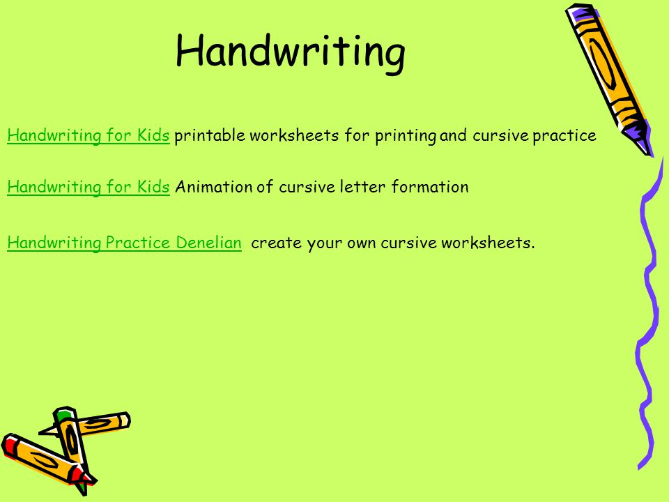 Handwriting Handwriting for Kids printable worksheets for printing and cursive practice. Handwriting for Kids Animation of cursive letter formation.