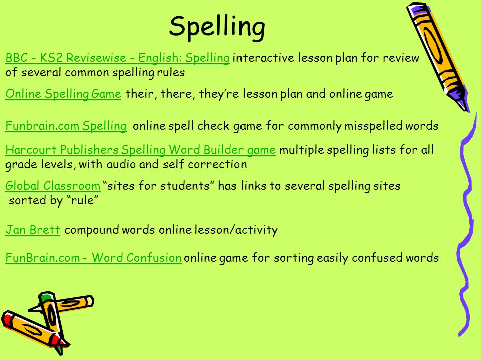Spelling BBC - KS2 Revisewise - English: Spelling interactive lesson plan for review. of several common spelling rules.