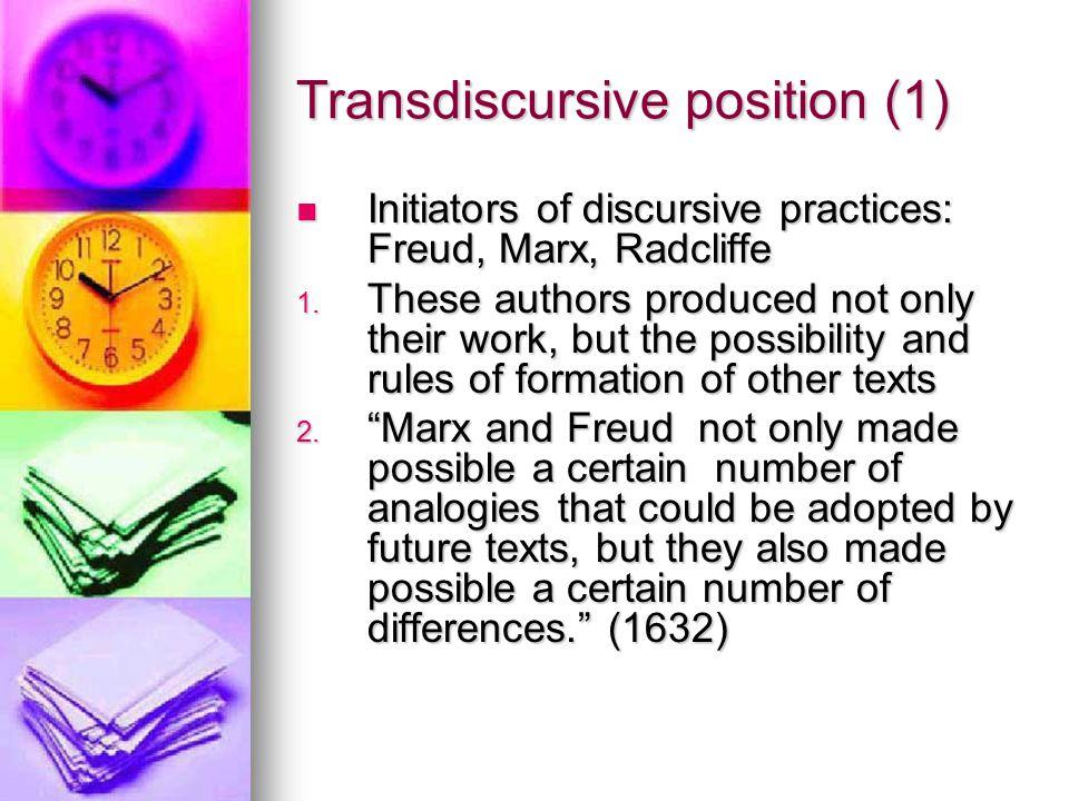 Transdiscursive position (1)