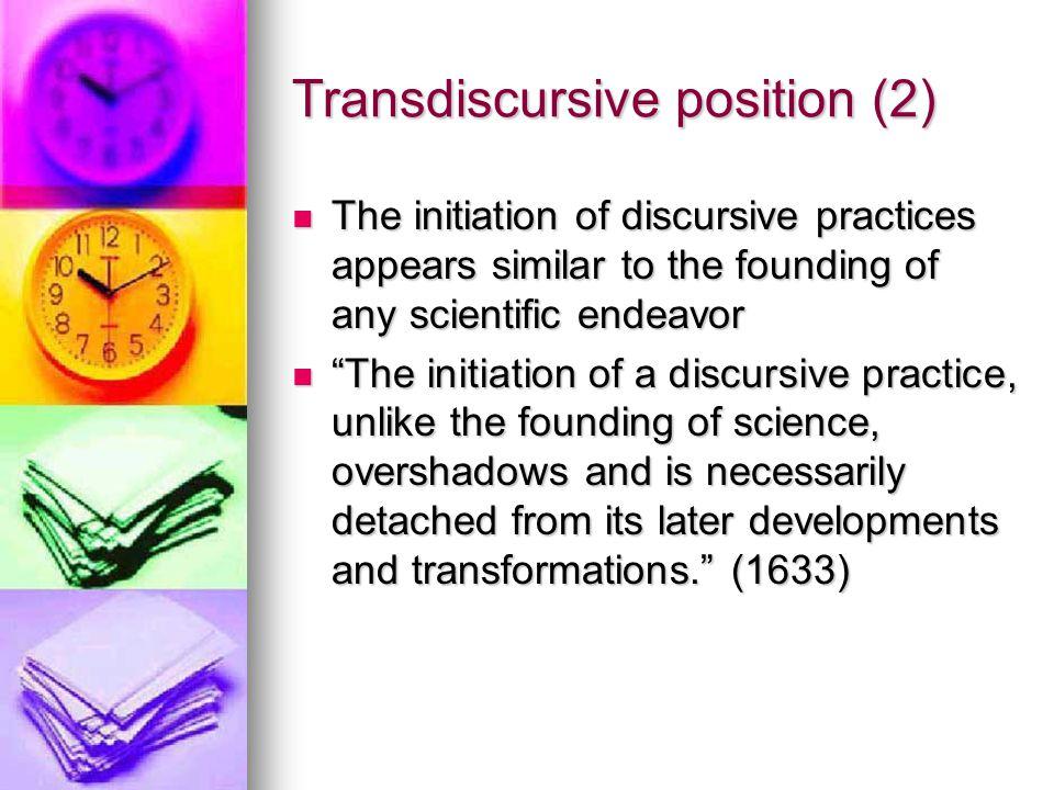 Transdiscursive position (2)