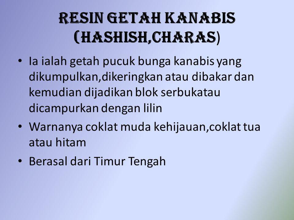 Resin Getah Kanabis (Hashish,Charas)