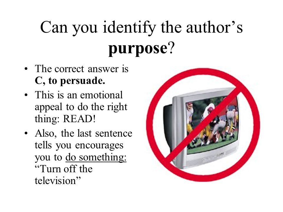 Can you identify the author's purpose