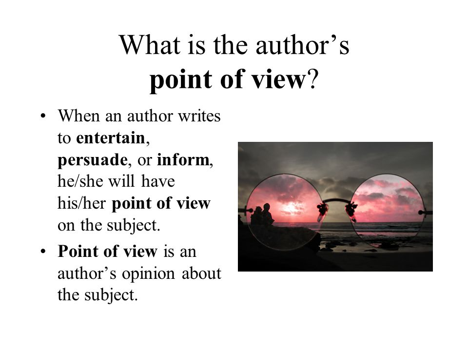 What is the author's point of view