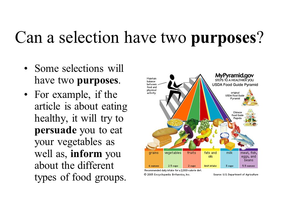 Can a selection have two purposes