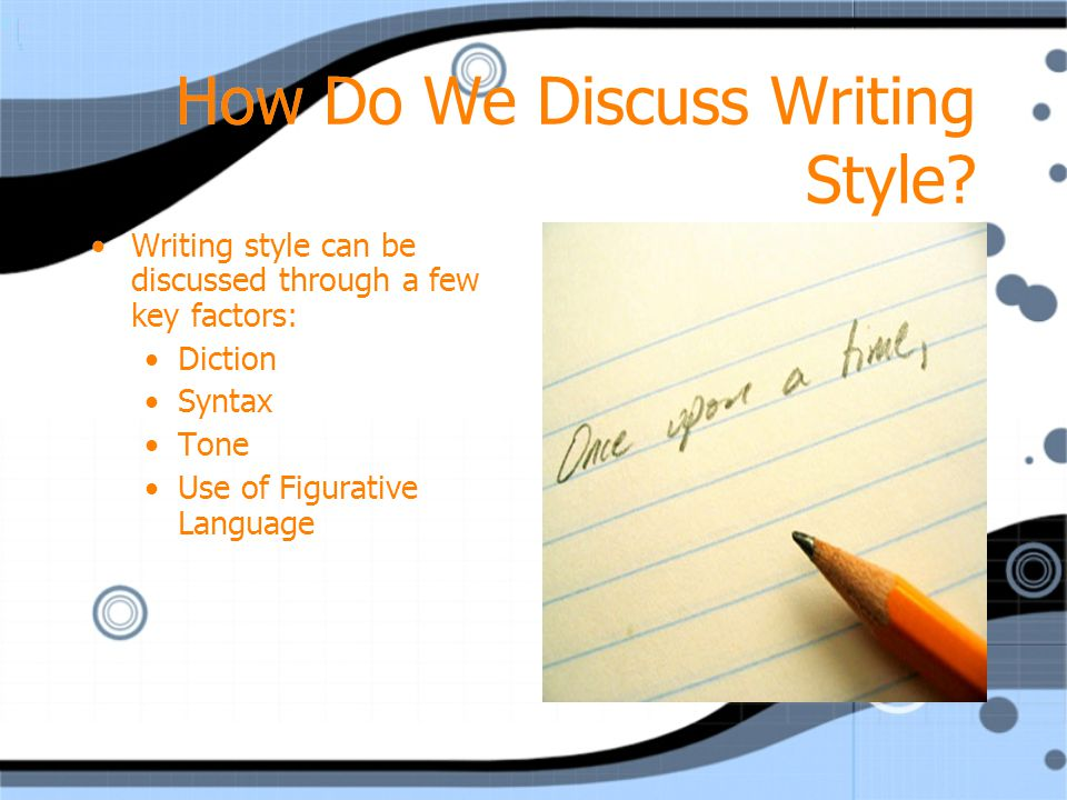 How Do We Discuss Writing Style
