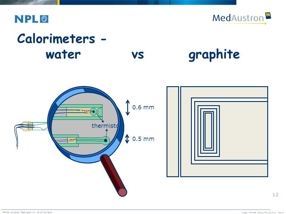 Calorimeters - water vs graphite