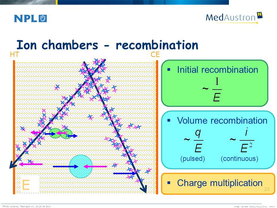 Ion chambers - recombination