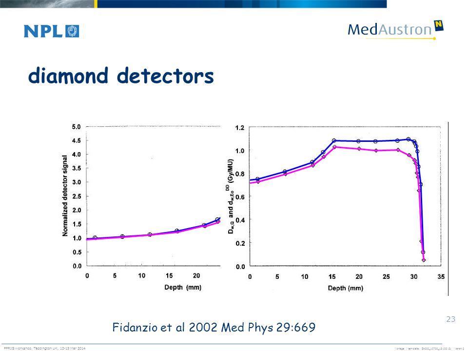 diamond detectors Fidanzio et al 2002 Med Phys 29:669