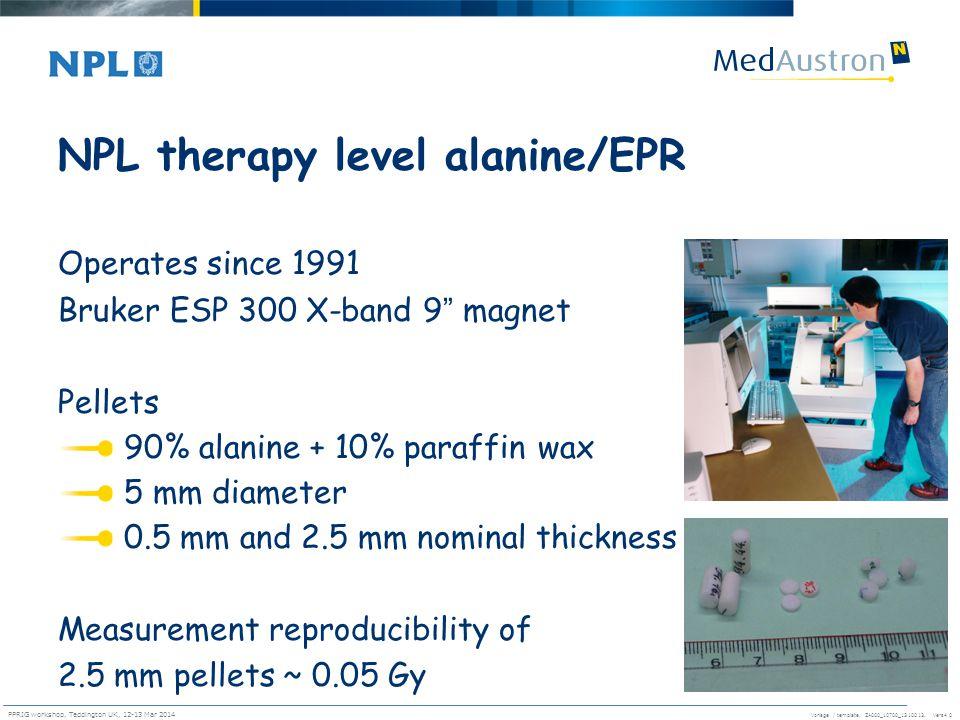 NPL therapy level alanine/EPR