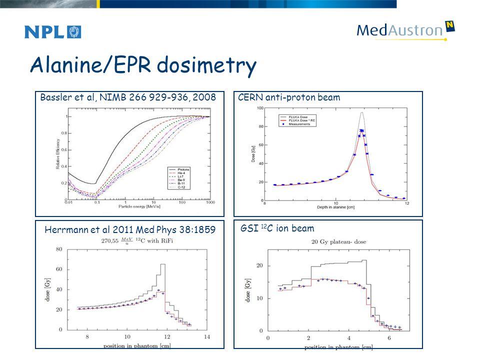 Alanine/EPR dosimetry