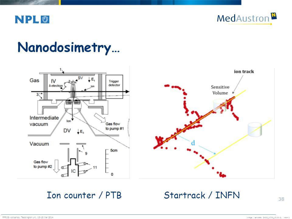 Nanodosimetry… Ion counter / PTB Startrack / INFN