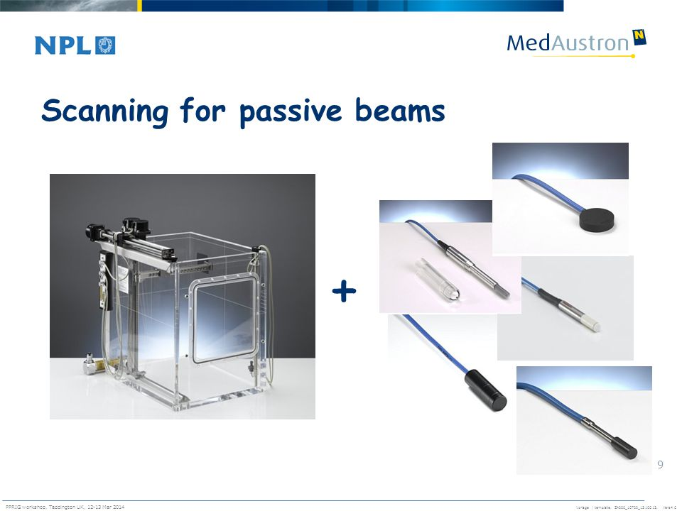 Scanning for passive beams