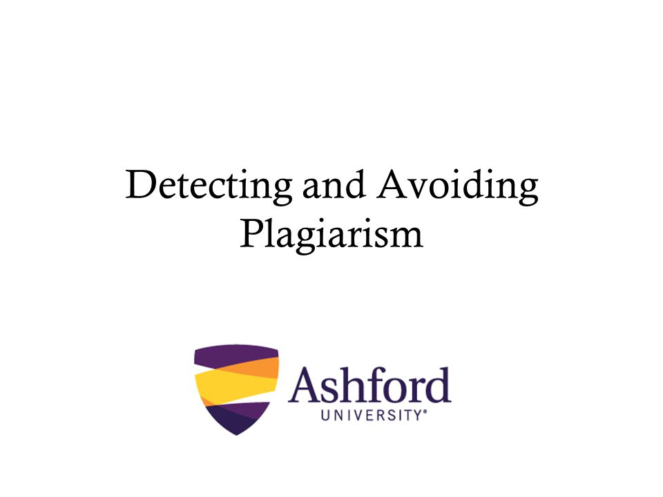 Detecting and Avoiding Plagiarism