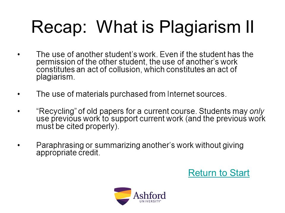 Recap: What is Plagiarism II