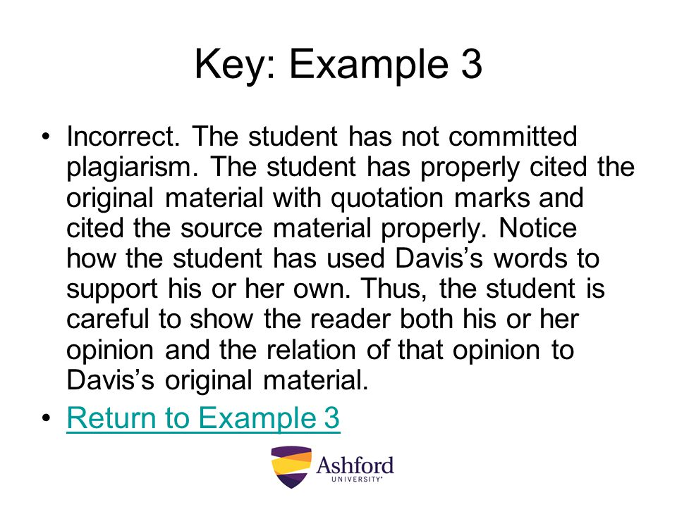 Key: Example 3 Return to Example 3