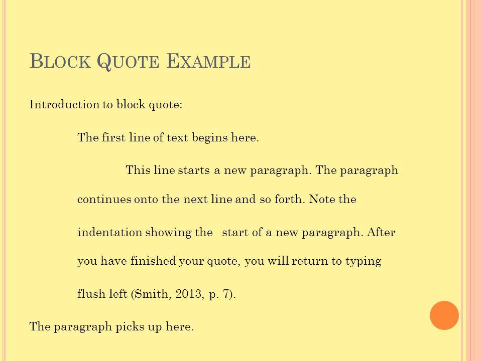 Block Quote Example