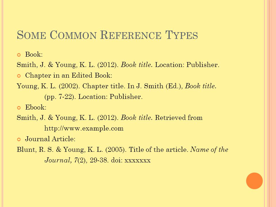 Some Common Reference Types