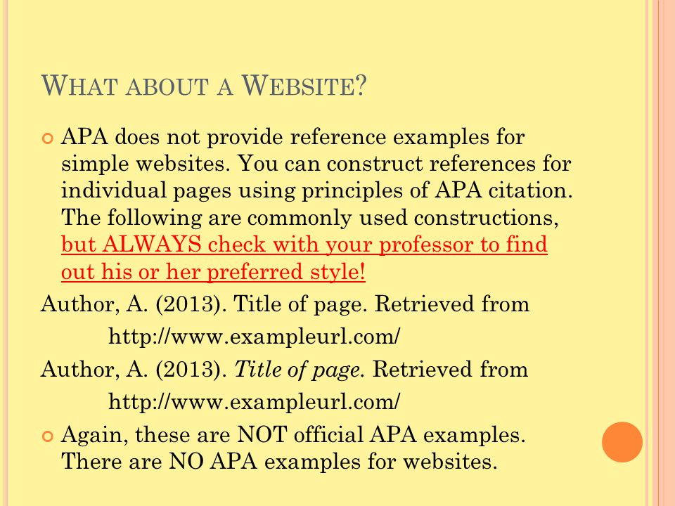 What about a Website