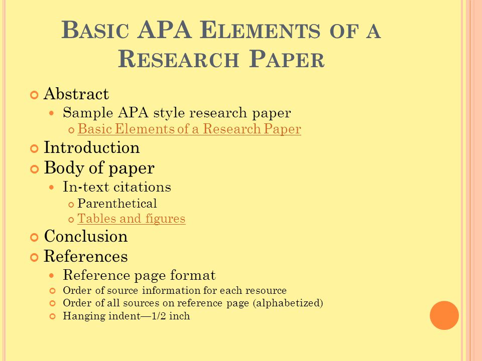 steps to writing an apa style research paper
