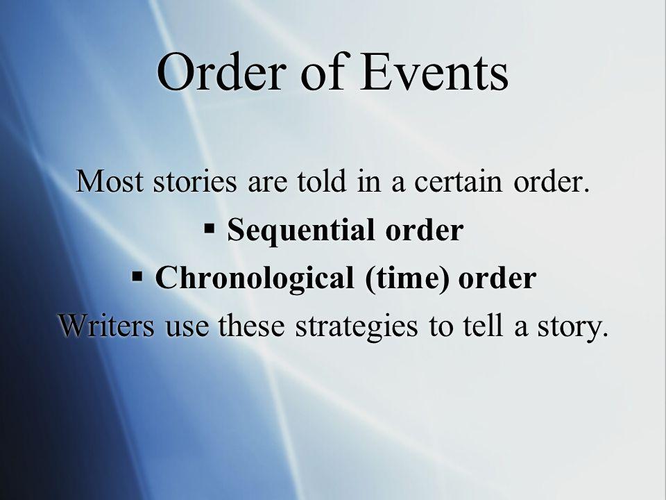 Chronological (time) order