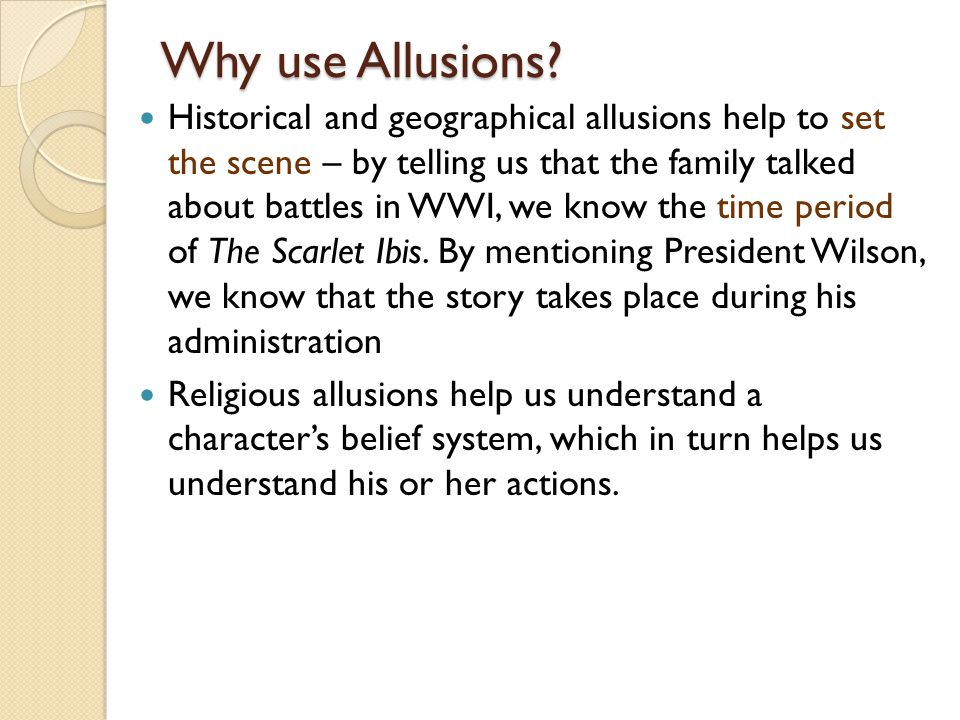 Why use Allusions