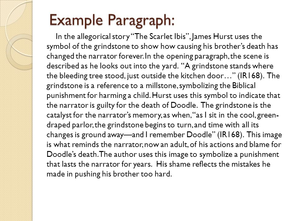 Example Paragraph: