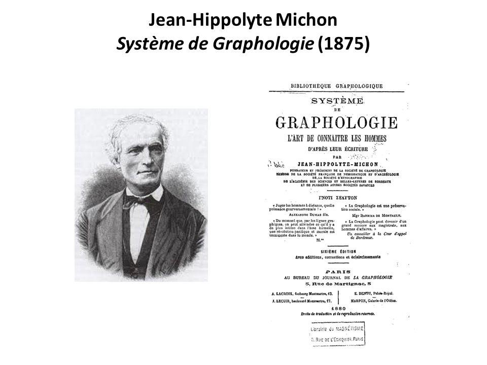 Jean-Hippolyte Michon Système de Graphologie (1875)