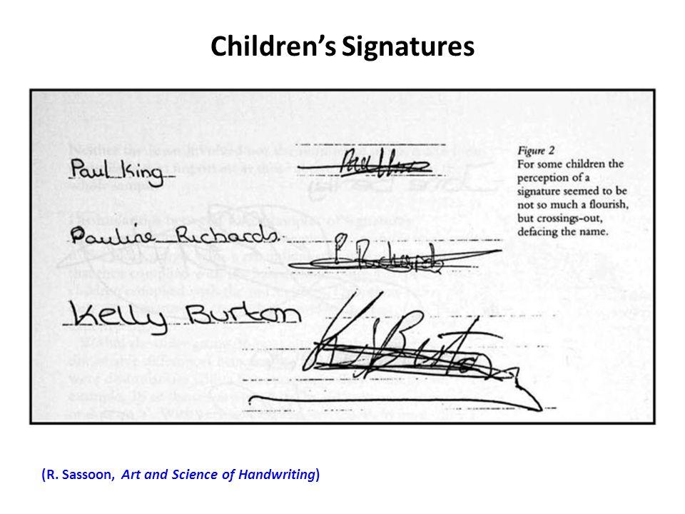 Children's Signatures