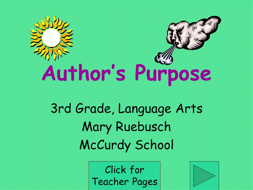 3rd Grade, Language Arts Mary Ruebusch McCurdy School