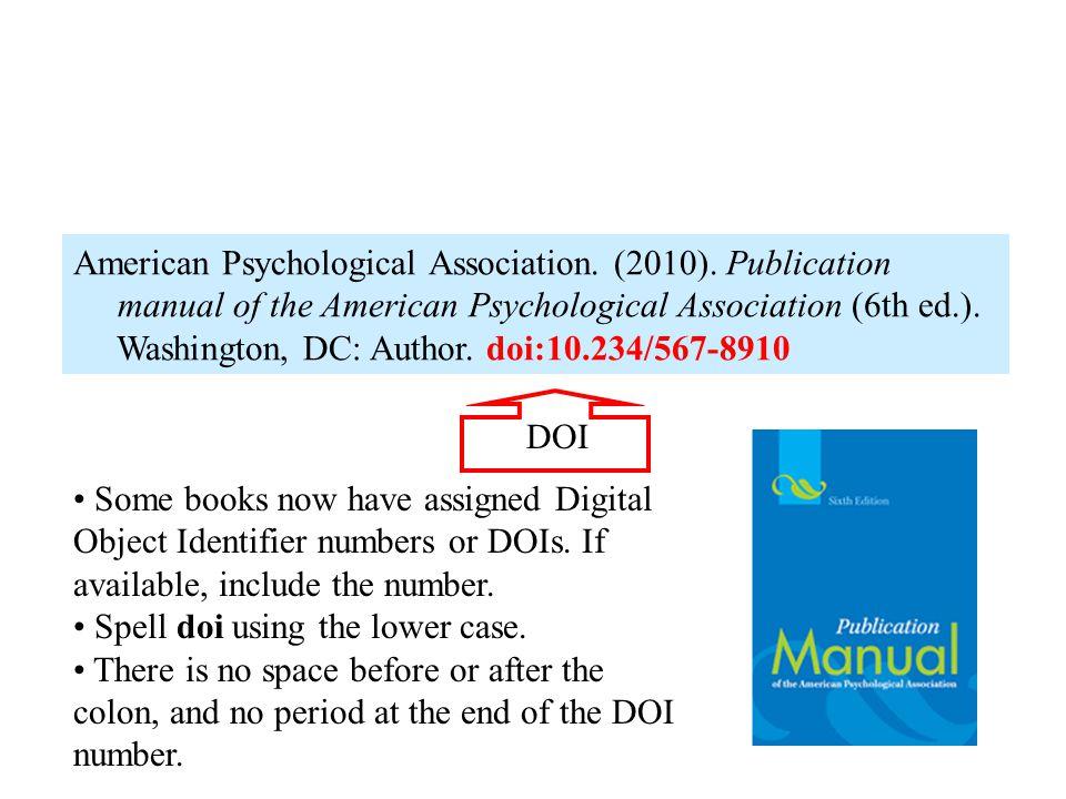 DOI number for books