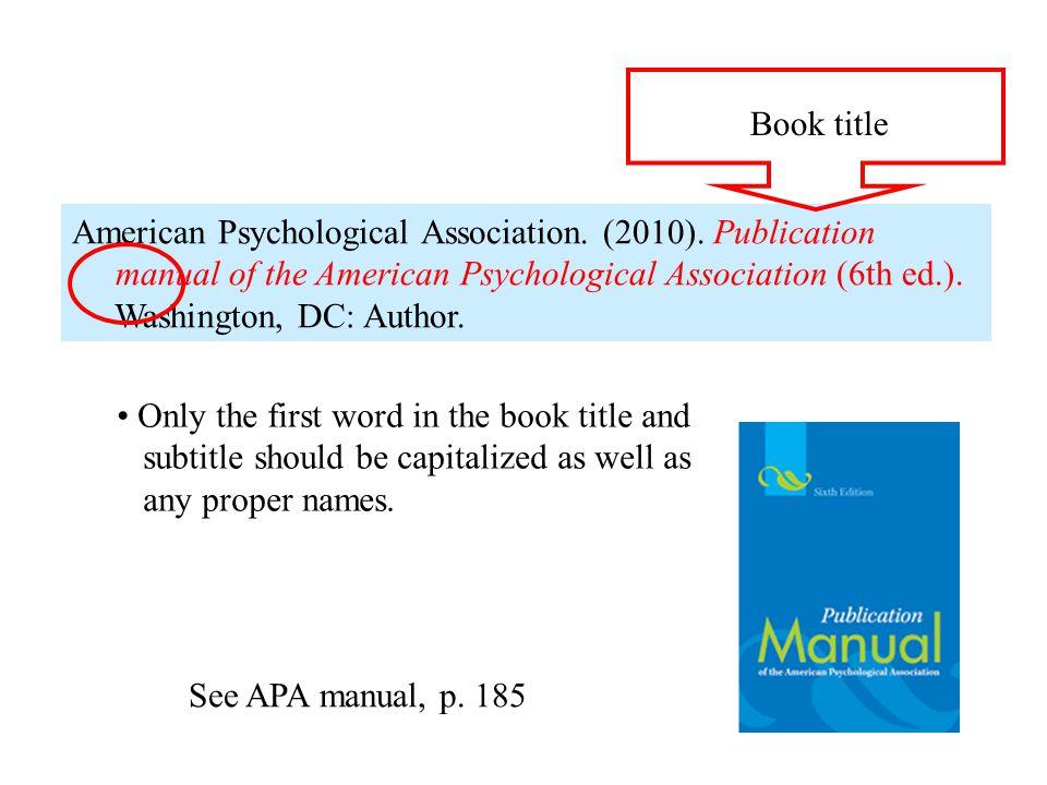 Book title field Book title