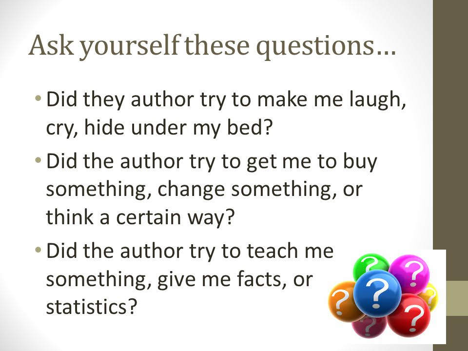 Ask yourself these questions…