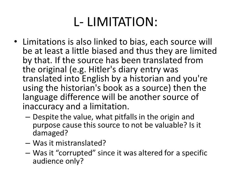 L- LIMITATION: