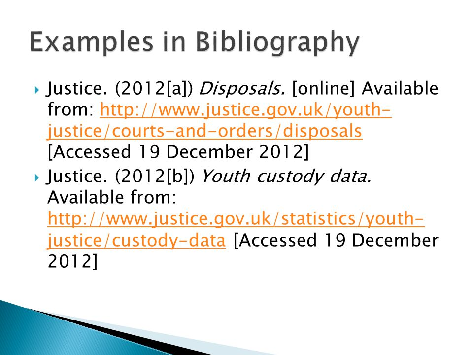 Examples in Bibliography