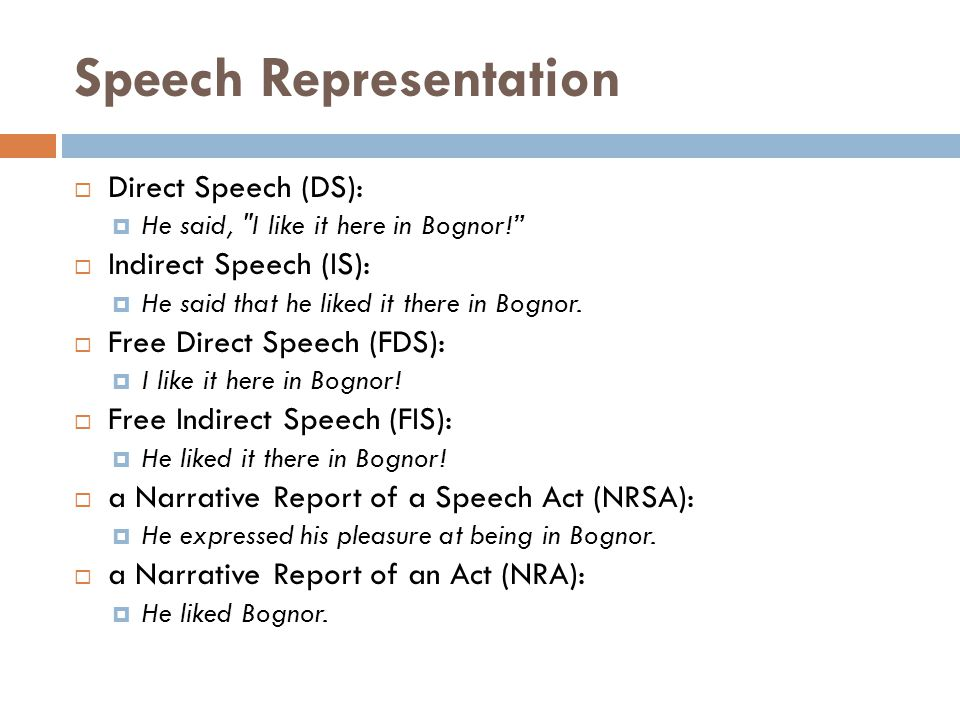 Speech Representation