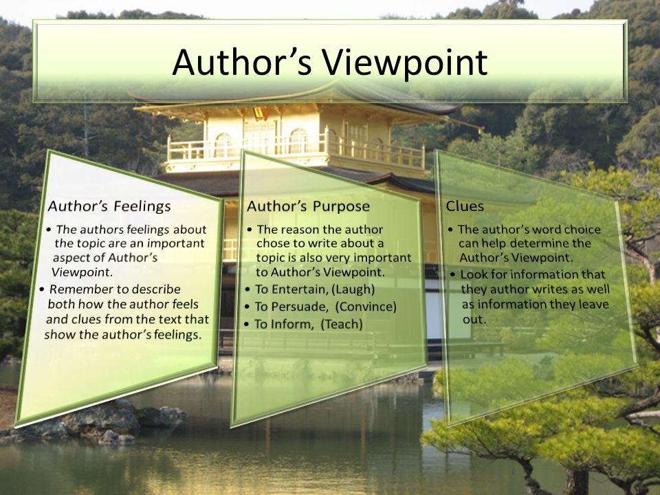 Author's Viewpoint Author's Feelings