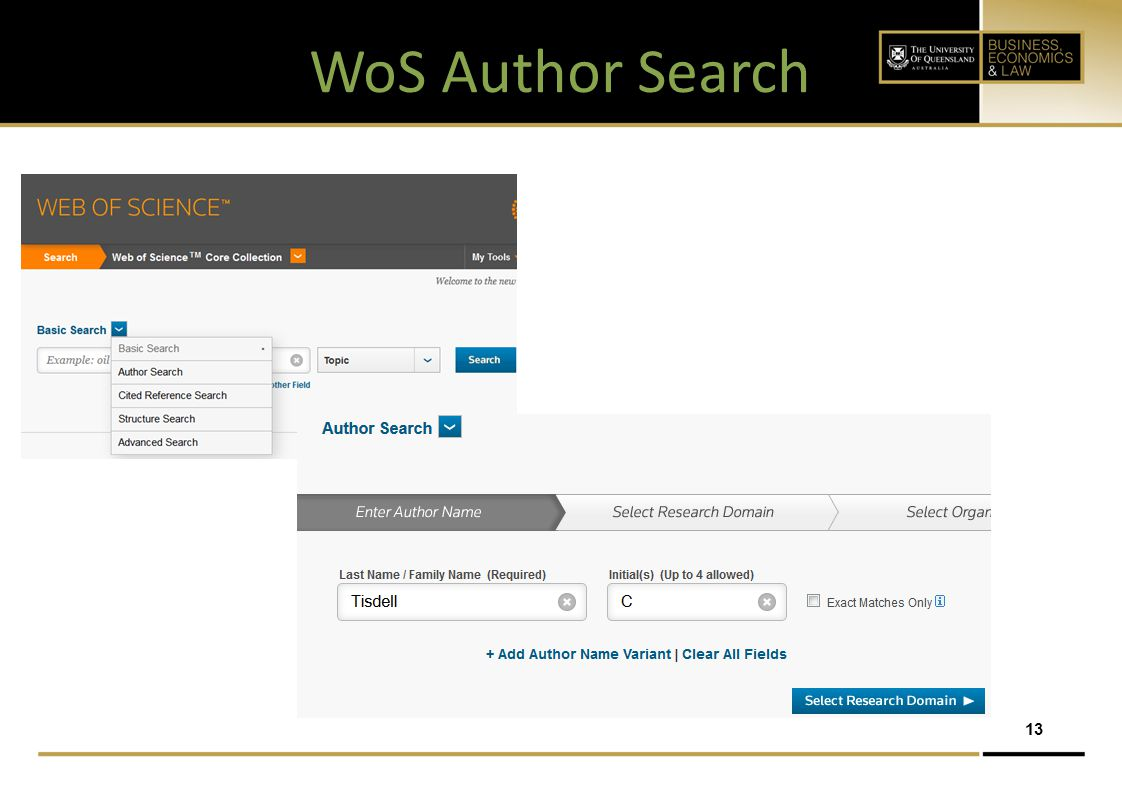 WoS Author Search