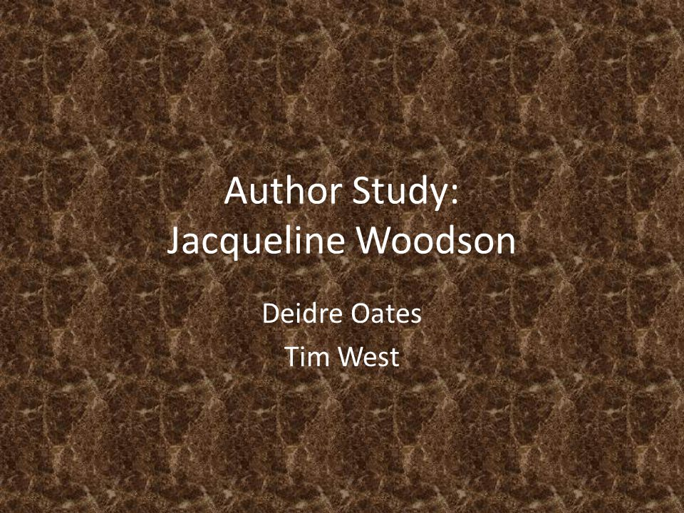 Author Study: Jacqueline Woodson