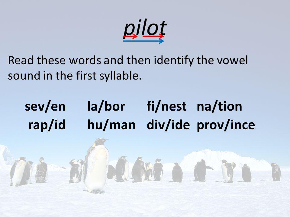pilot sev/en la/bor fi/nest na/tion rap/id hu/man div/ide prov/ince